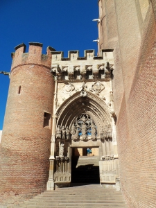 Entrance to Albi Cathedral (sole ornate feature of exterior)