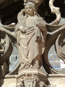 Cecilia Sculpture, Cathedral Entrance
